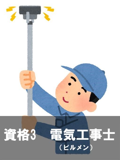 資格3 電気工事士(ビルメン)