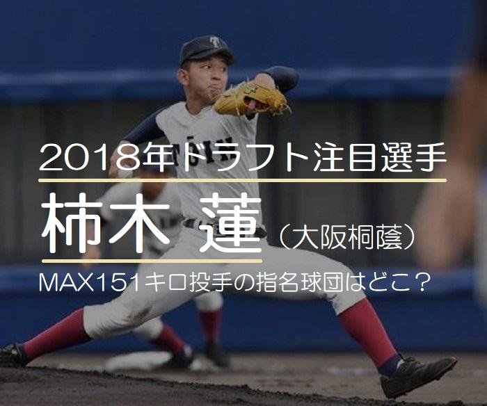 2018年ドラフト注目の柿木蓮(大阪桐蔭)!MAX151キロ投手の指名球団